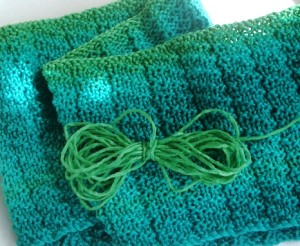 cowl and small butterfly of unused yarn