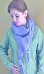 knitted scarf in Tassel Scarf pattern