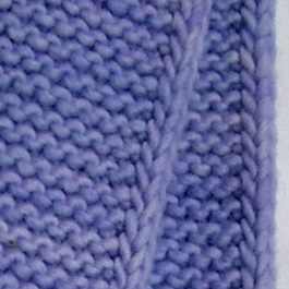 detail of knitted i-cord edging